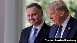 Анджей Дуда и Дональд Трамп. Вашингтон, 24 июня 2020 года