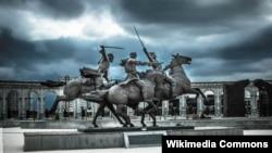 """Памятник """"Дикой дивизия"""" в Назрани (Ингушетия)"""