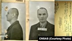 Georg Hromadka în detenţie, fotomontaj