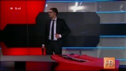 Вооруженный человек ворвался в студию голландского телевидения во время выпуска новостей