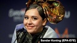 Манижа на первом полуфинале Евровидения. Роттердам, 18 мая 2021 года.
