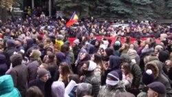 У центрі Кишинева – протести через результати виборів президента (відео)