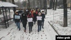 Мирный марш «За законность», Бишкек. 20 декабря 2020 г.