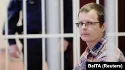 Doctor Artsyom Sarokin at the Minsk court hearing on February 19.