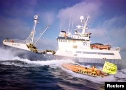 Protesti Green Peace-a protiv lova na kitove