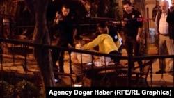 Prvi koji su prišli Aierkenu Saimaitiju nakon što je 10. novembra 2019. ustrijeljen ispred hotela u Istanbulu. (Foto: Agencija Dogar Haber)