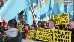 Ankarada Qırım işğaline qarşı piket ötkerildi