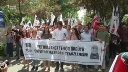 Ankarada Erdogana dəstək aksiyası keçirilib