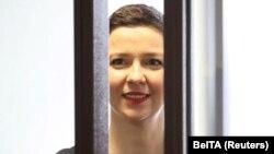 Беларустагы оппозиция лидерлеринин бири Мария Колесникова сотто. Минск, 4-август, 2021-жыл.