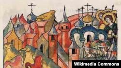 Крымское войско под Москвой, 1521 год