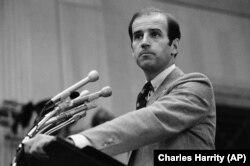 Сенатор Джо Байден, виступ на прес-конференції у Вашингтоні 9 жовтня 1979 року