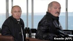 Президент России Владимир Путин и президент Беларуси Александр Лукашенко