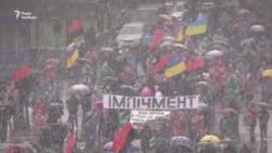 Прихильники Саакашвілі провели маршу у центрі Києва