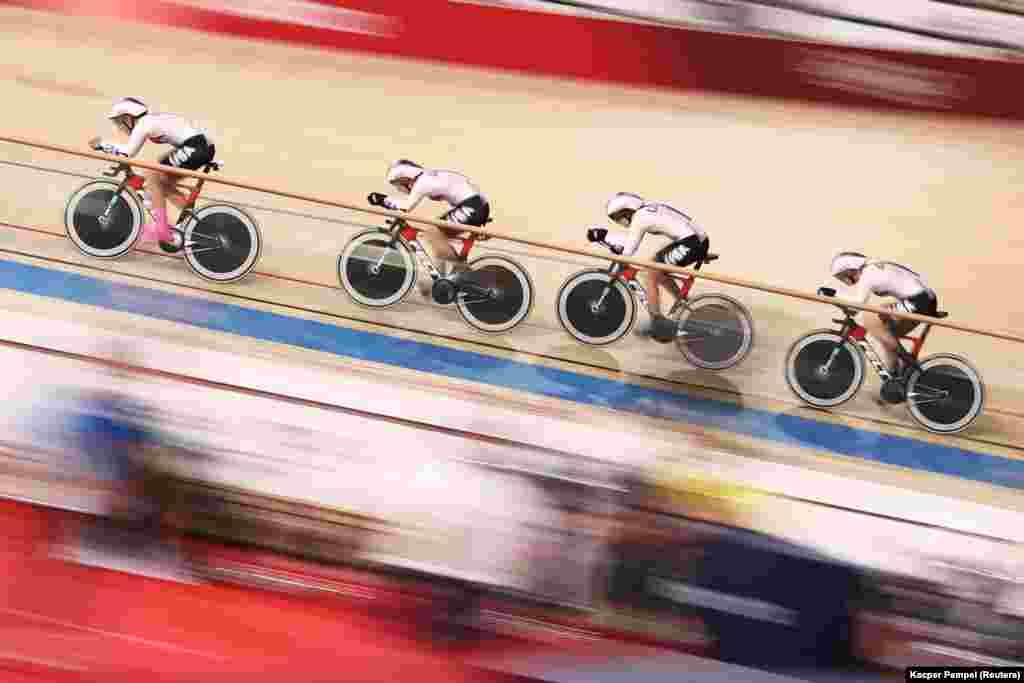 Велоспорт, женская командная гонка, финал. Сидзуока, Япония, 3 августа 2021