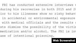 Az FBI nyilvántartásai azt mutatják, hogy két izraeli orvos Kara-Murza támogatóinak kérésére Moszkvába utazott a 2015-ös kórházi kezelés után.