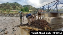 Two more local residents are still missing in the Kyrgyz mudslides, police said.