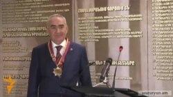 Պատվո մեդալ եւ նոր պաշտոն Գալուստ Սահակյանին