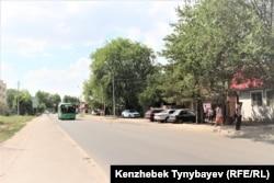 Улица в Шаныраке сегодня. Алатауский район, Алматы, 7 июля 2021 года