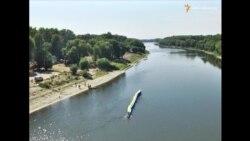 33-метровий прапор України плив по Десні на День Державного прапора у Чернігові