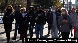 Шествие против политических репрессий и в поддержку Хабаровска и Беларуси, 10 октября, Иркутск