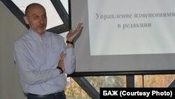 Intex-press editor Uladzimer Yanukevich (file photo)