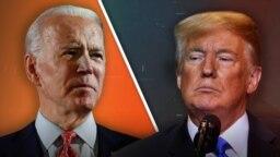 Collage: Trump and Biden