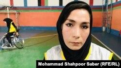 محسنه مظفری، یکی دیگر از دختران تیم ویلچر بسکتبال هرات