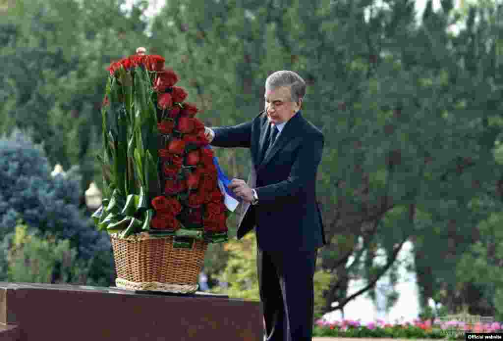 Uzbekistan - Day of Remembrance of the First President Islam Karimov. Photo from the president's website.