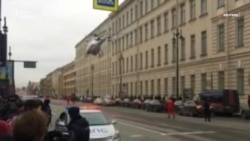Гелікоптер для евакуації потерпілих здійснив посадку в центрі Петербурга (відео)