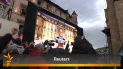 Hollande Supporters Celebrate; Sarkozy Concedes Defeat