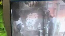 نجات یک دختر جوان در تصاویر دوربین مدار بسته یک فروشگاه ورزشی