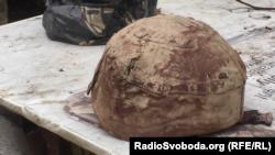Прострелена каска Романа Дзюбенка