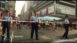 Pekin tərəfdarları Honq Konq etirazçılarına hücum edir (Rus dilində)