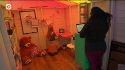 Родители в США построили для дочки мини-школу для онлайн-занятий