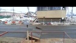 Железнодорожный переезд в Салтыковке