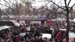 В Киеве после гибели правозащитницы проходит акция протеста