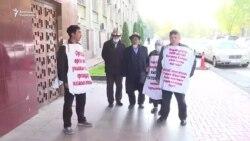Он бир күндүк жөө жүрүш: Нааразылар Оштон Бишкекке келишти