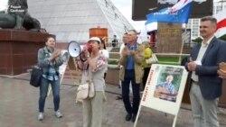 «Віват, віват, Беларусь!» - Тацяна Севярынец прасьпявала на пікеце рэп