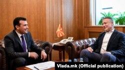 Архивска фотографија: Зоран Заев и Бранко Црвенковски во 2018