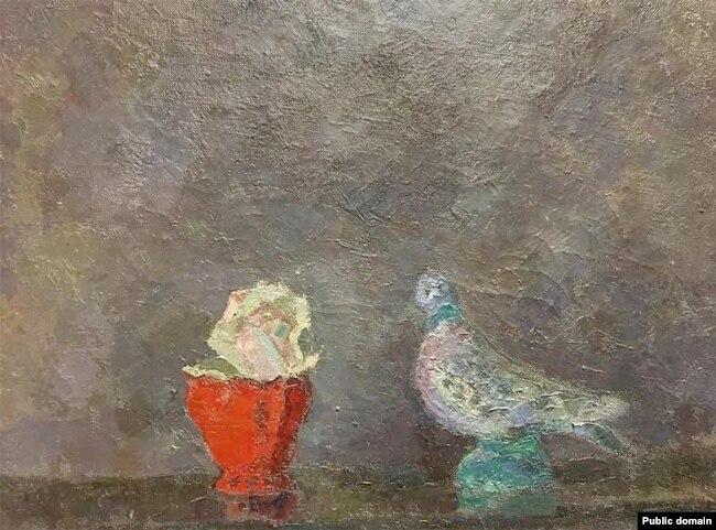 """Картина Роберта Фалька """"Голубка и роза (Реквием)"""""""
