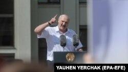 Alyaksandr Lukashenka 16 avqust yürüşündə