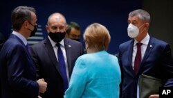 Президентът Румен Радев по време на срещата на върха в Брюксел.