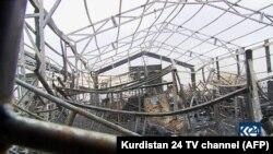 19 феврали соли 2021. ТВ Kurdistan-24 ҳолати баъди ҳамлаи мушакӣ болои як пойгоҳи низомӣ дар фурудгоҳи Ирбилро ба навор гирифтааст