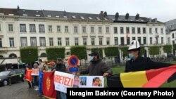 Европарламенттин алдына чыккан кыргызстандыктар, 8-май, 2021-жыл.