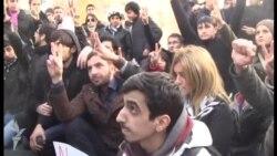 Протест против смерти инвалида Карабаха Заура Гасанова