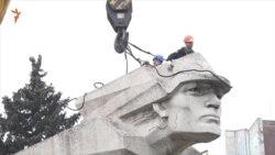 У Запоріжжі «декомунізували» останній великий пам'ятник (відео)