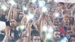 Друга ніч протистояння перед парламентом Грузії – відео