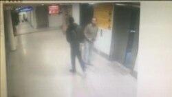 Камеры наблюдения показали момент, когда один из нападавших в аэропорту Стамбула застреливает полицейского в упор