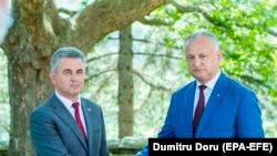 Igor Dodon și Vadim Krasnoselski, la reședința prezidențială de la Condrița, 28 iulie 2020