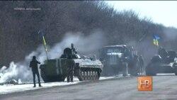 Украинские военные уходят из Дебальцева